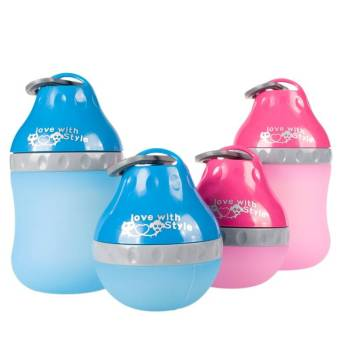 Portable Colorful Silicone Dog Water Bottle Dogs Feeding & Watering Accessories