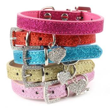 Colorful Leather Collars for Cats Cats Collars, Harnesses & Leashes