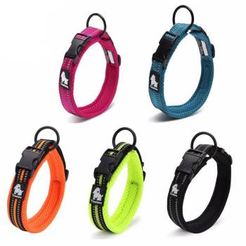 Adjustable Nylon Dog Collars with Reflective Stripes Collars, Harnesses & Leashes Dogs