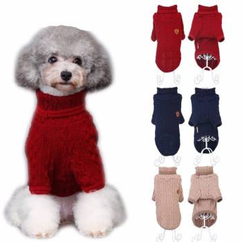Knitted Classic Sweatshirt for Small Dog Clothing Dogs