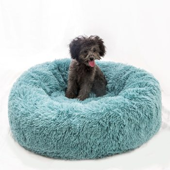 Long Plush Super Soft Dog Bed Pet Kennel Round Sleeping Bag Lounger Cat House Winter Warm Sofa Basket for Small Medium Large Dog Uncategorized Color: 10 Size: XS Diameter 40cm