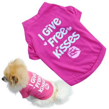 I Give Free Kisses Dog's T-Shirt