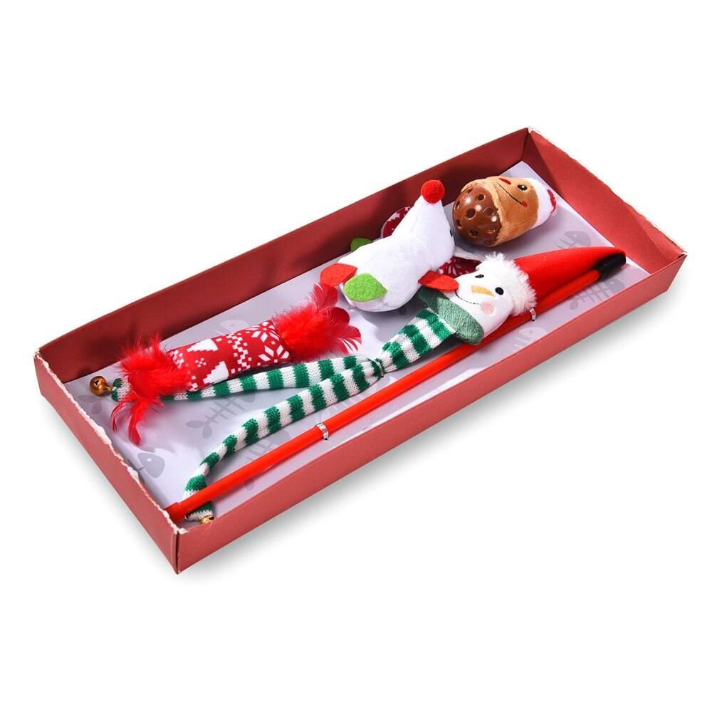 Christmas Style Cat Toys Set