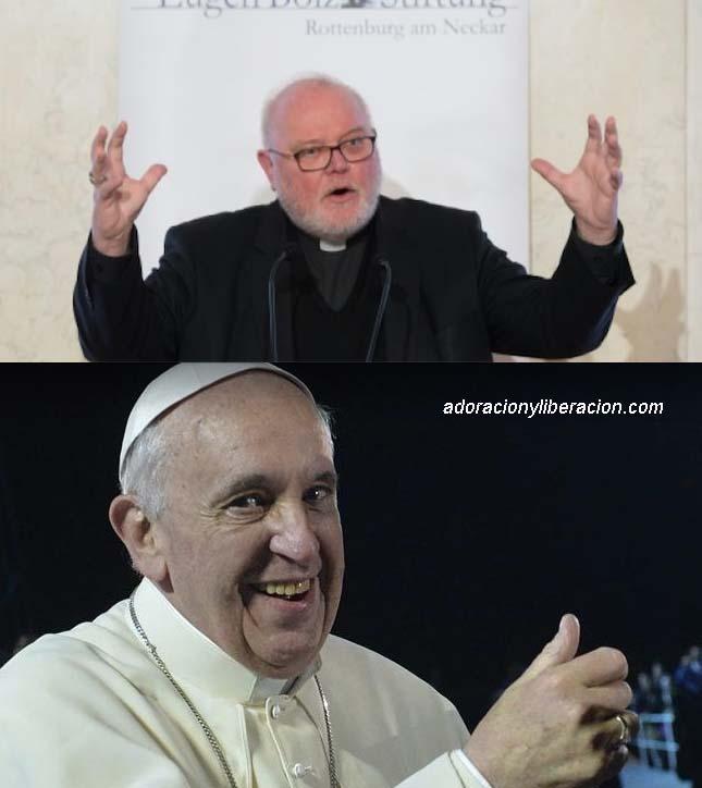 El Cardenal Marx y el Papa Francisco