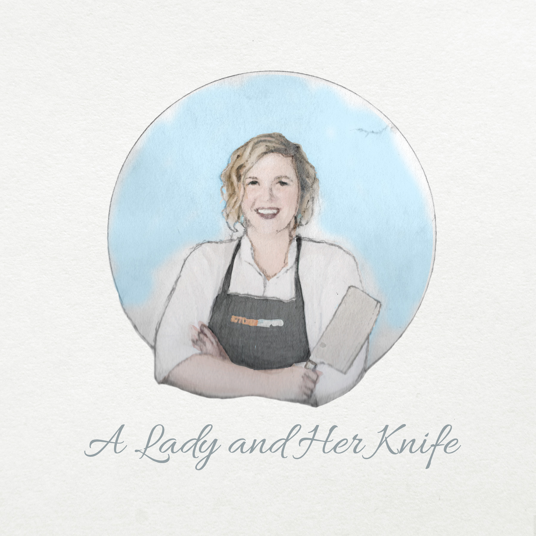 A Lady and Her Knife Logo Concept