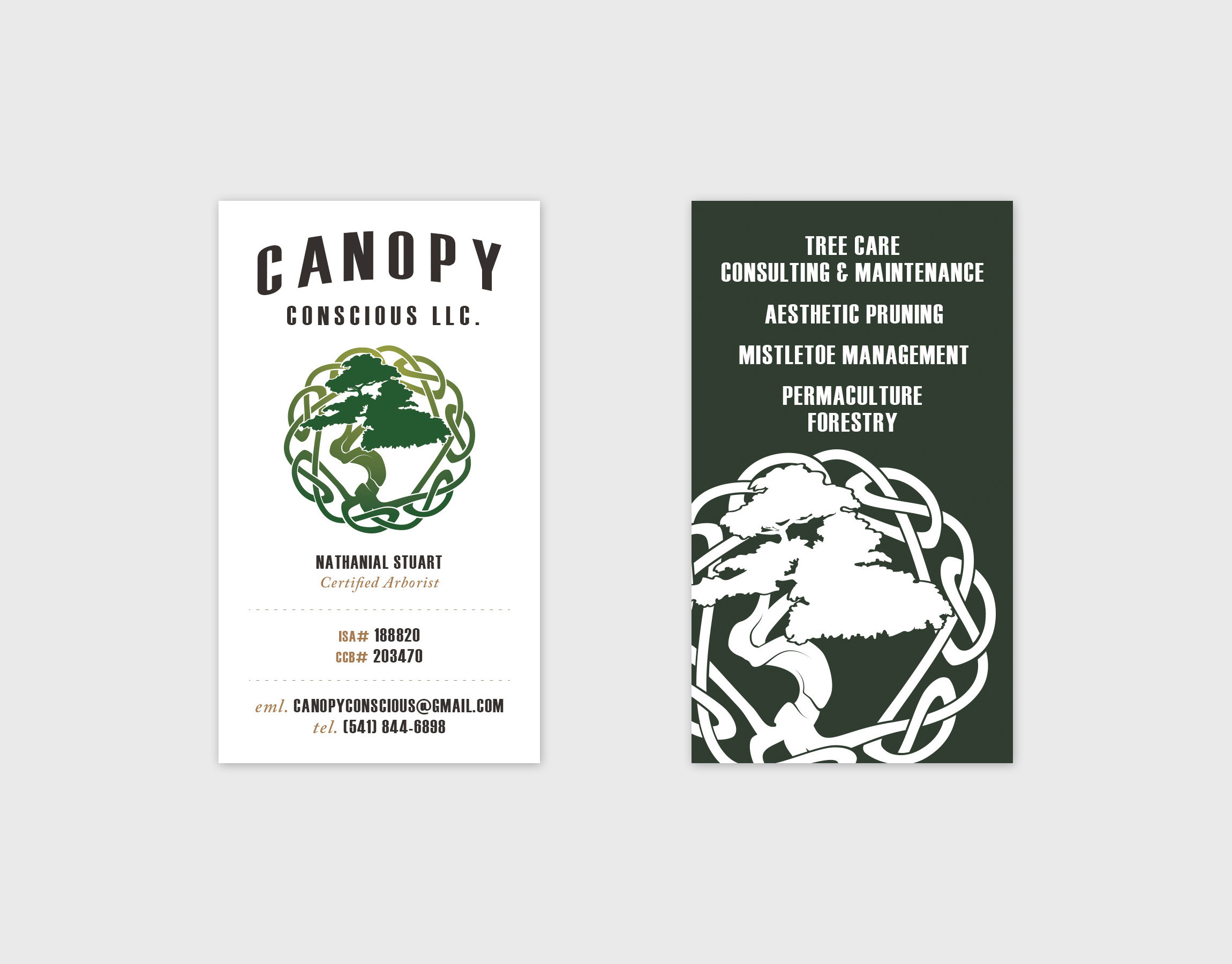 Canopy Conscious Logo Canopy Conscious Business Card  sc 1 st  Adoration & Canopy Conscious Logo | Adoration - Seattle Graphic Design ...