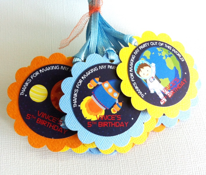 Outer Space Favor Tags For Birthday Party Adore By Nat