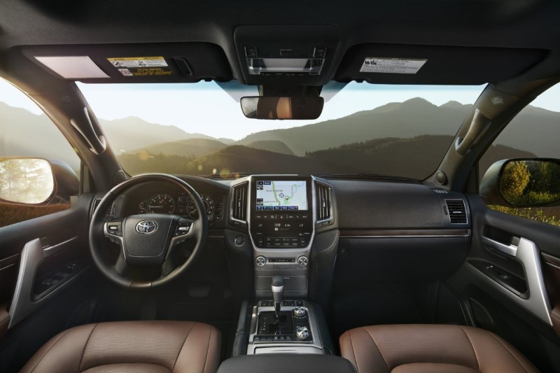 2020 Toyota Land Cruiser Prado Interior Black and Brown Colors