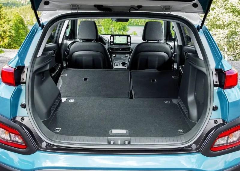 2020 Hyundai Kona Electric Trunk Capacity & Volume