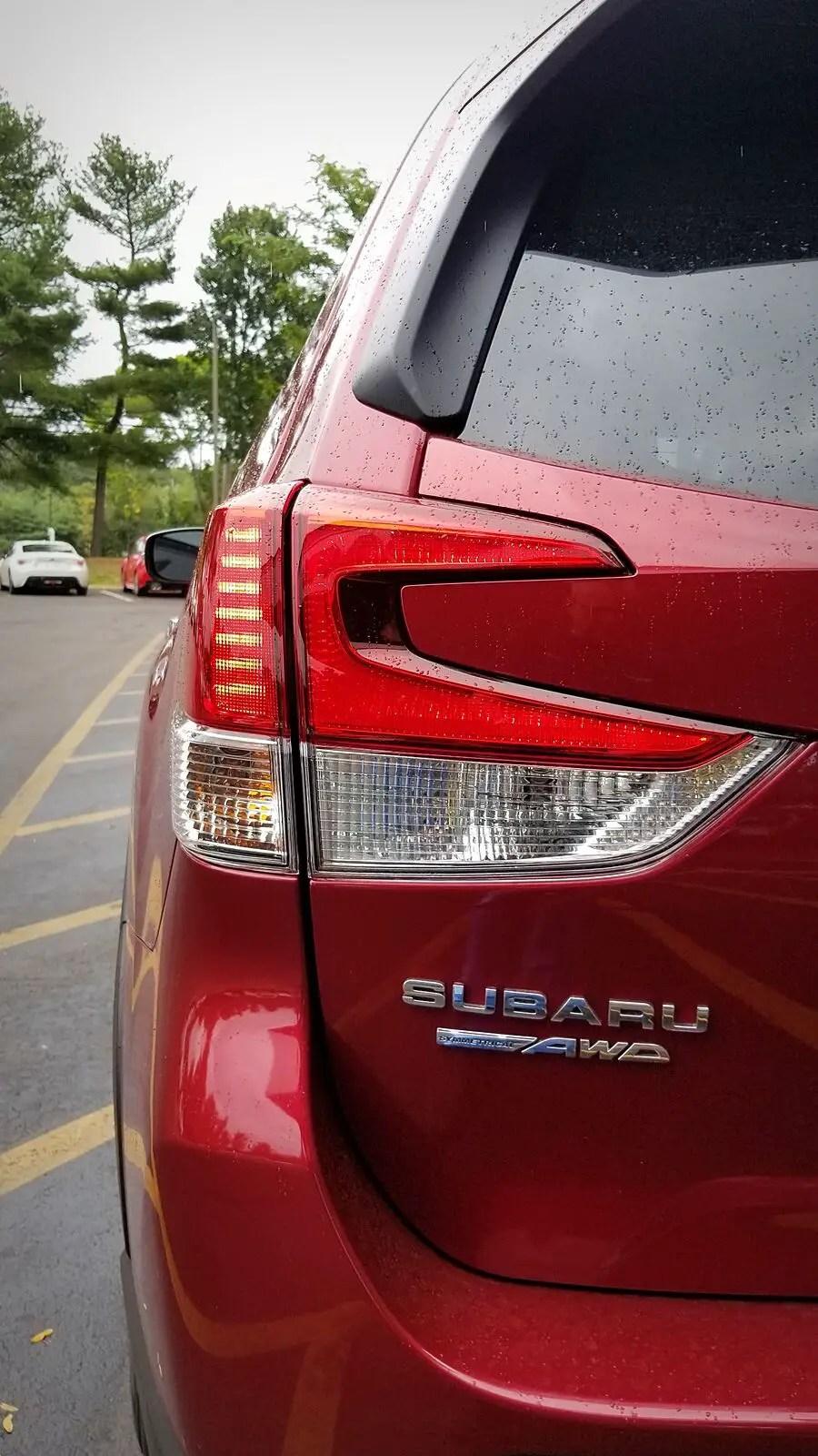 2021 Subaru Forester Rear Angel Changes