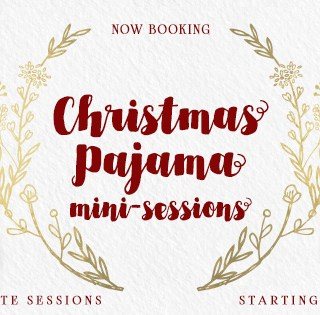 Now booking Christmas pajama holiday mini-sessions in Richland, WA with Adored by Meghan Rickard photography