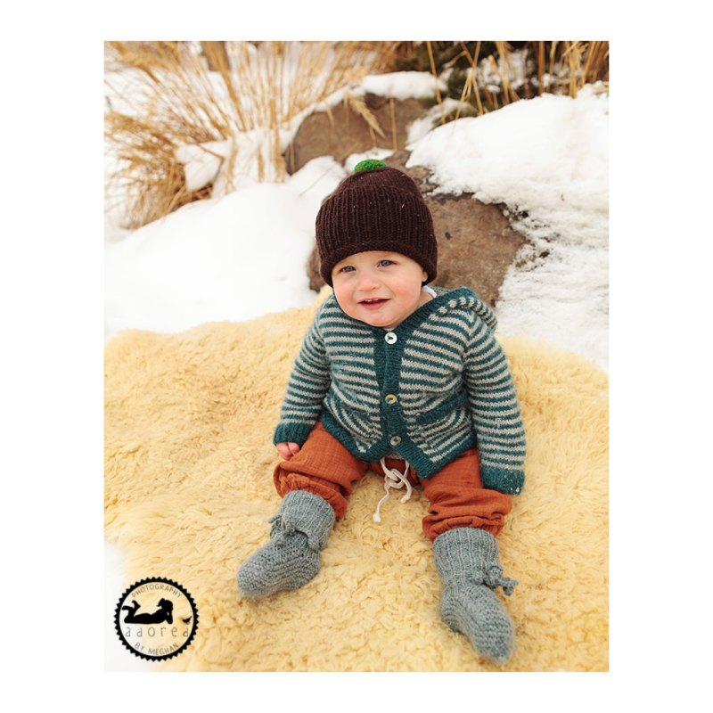 Snow Baby. Photographed by Adored by Meghan, family photographer, Kennewick, WA. A snowy day for photos.