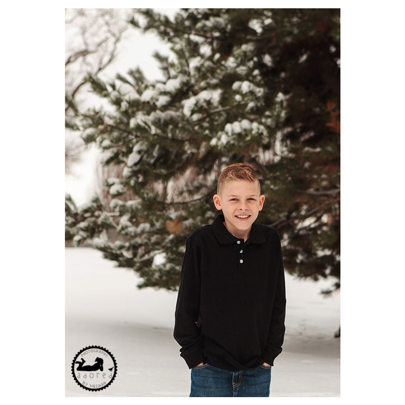 There's no fun like snow fun during family photos with Adored by Meghan, Tri-Cities, WA family photographer