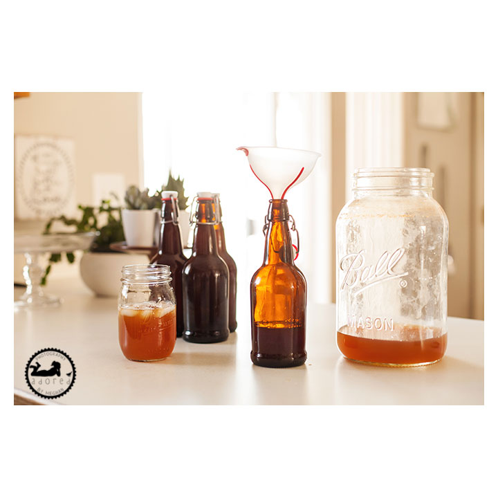 Process of homebrew kombucha