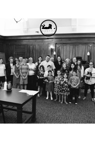 It's adoption day in Pasco, WA for the Jones family.