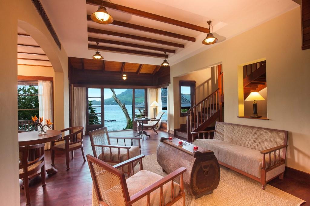 Enchanted Island Resort - Living Room, Villa Flanbwayan