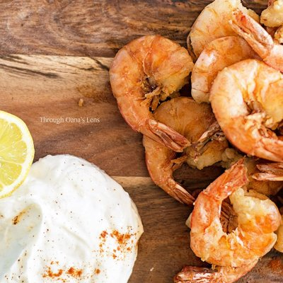 Greek fried chili prawns with garlic and lemon yogurt | Adore Foods