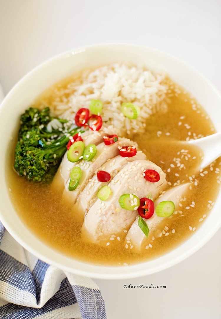 Easy asian chicken soup recipe adore foods for Asian cuisine ingredients