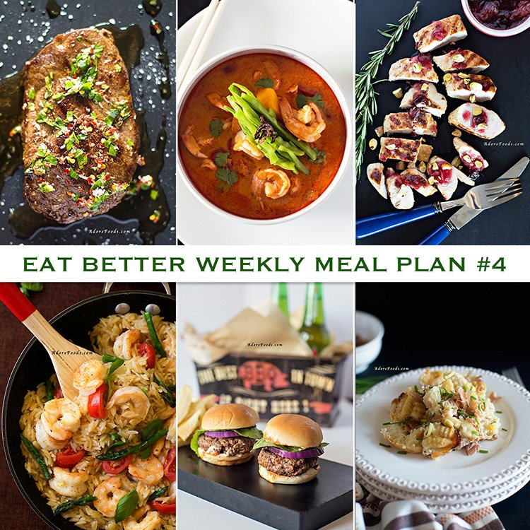 Adore Foods EAT BETTER Weekly Meal Plan - week 4