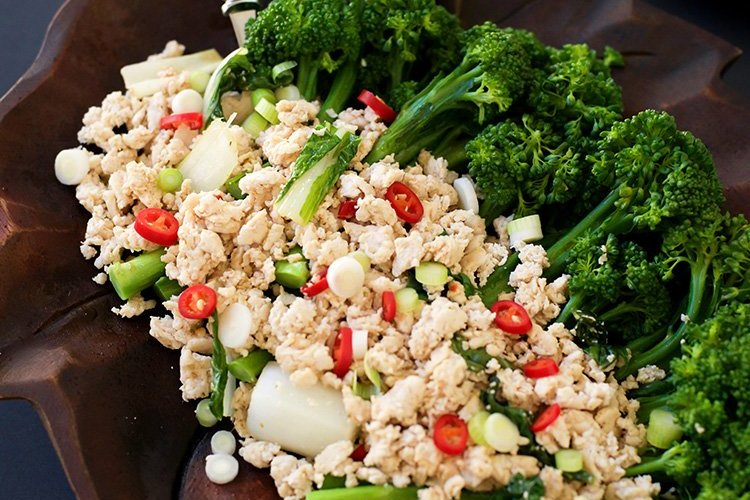 Quick Thai-Style Chicken Broccolini Stir Fry