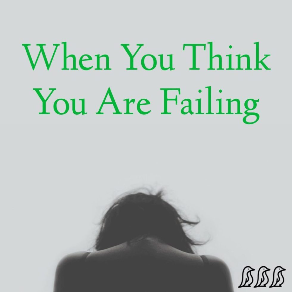 When You Think You Are Failing