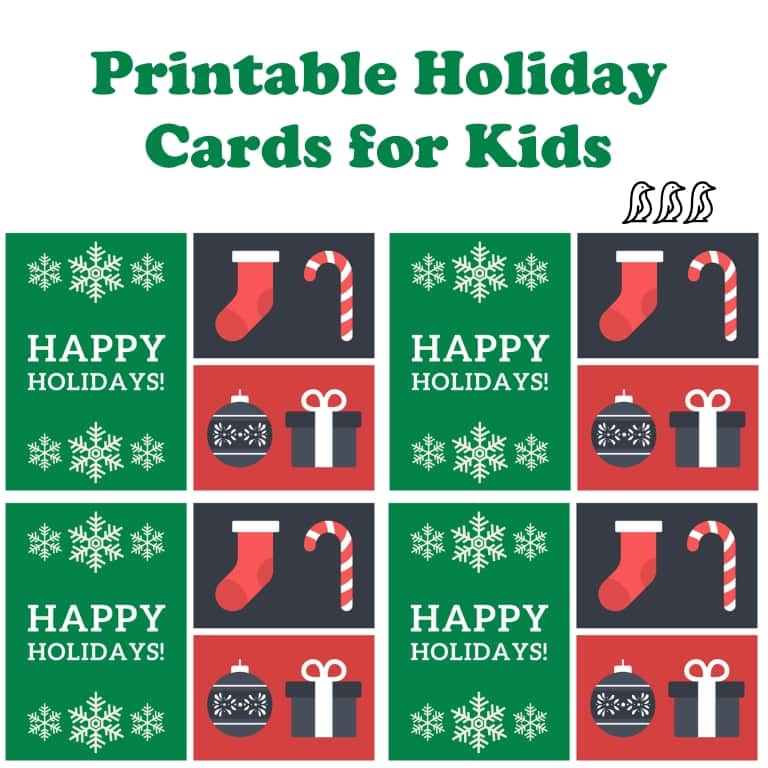 Printable Holiday Cards for Kids