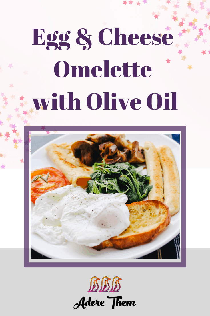 Egg Cheese Omelette with Olive Oil graphic