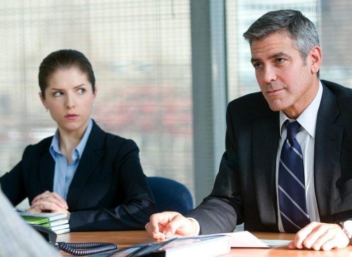 Szenenbild aus UP IN THE AIR - Anna Kendrick und George Clooney - © Paramount Pictures