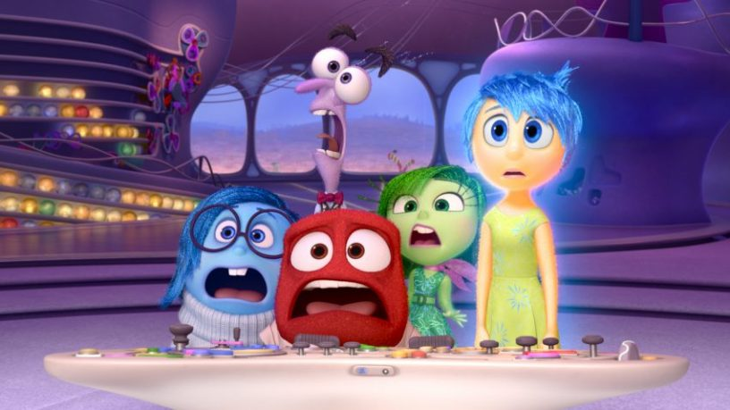ALLES STEHT KOPF - INSIDE OUT - Pictured (L-R): Sadness, Fear, Anger, Disgust, Joy. ©2015 Disney•Pixar. All Rights Reserved.