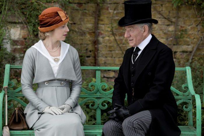 Szenenbild aus MR. HOLMES - Ann Kelmot (Hattie Morahan) und Sherlock Holmes (Ian McKellen) - © 2015 Alamode Filmverleih