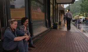Szenenbild aus THREE BILLBOARDS OUTSIDE EBBING, MISSOURI - Mildred (Frances McDormand) und James (Peter Dinklage) - © Fox