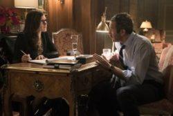 Szenenbild aus MOLLY'S GAME (2017) - Molly (Jessica Chastain) hat einen Verehrer: Douglas Downey (Chris O'Dowd) - © Square One Entertainment