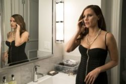 Szenenbild aus MOLLY'S GAME (2017) - Molly (Jessica Chastain) unter Druck - © Square One Entertainment