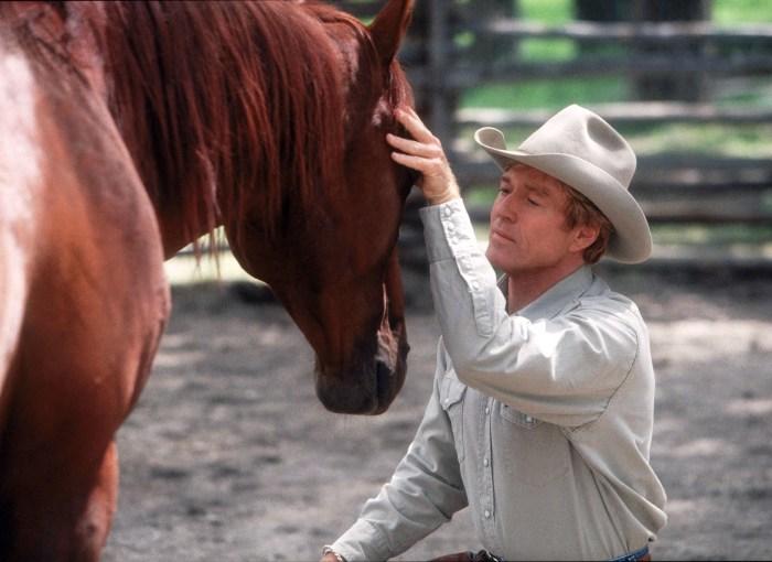 Szenenbild aus DER PFERDEFLÜSTERER (1998) - THE HORSE WHISPERER - Tom Booker (Robert Redford) - © Disney