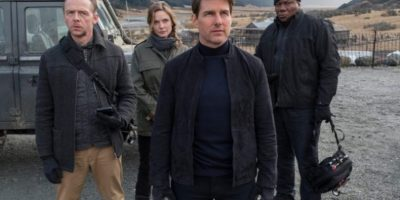 Szenenbild aus MISSION: IMPOSSIBLE - FALLOUT (2018) - Benji (Simon Pegg), Ilsa (Rebecca Ferguson), Ethan (Tom Cruise) und Luther (Ving Rhames) gegen den Rest der Welt. - © Paramount Pictures