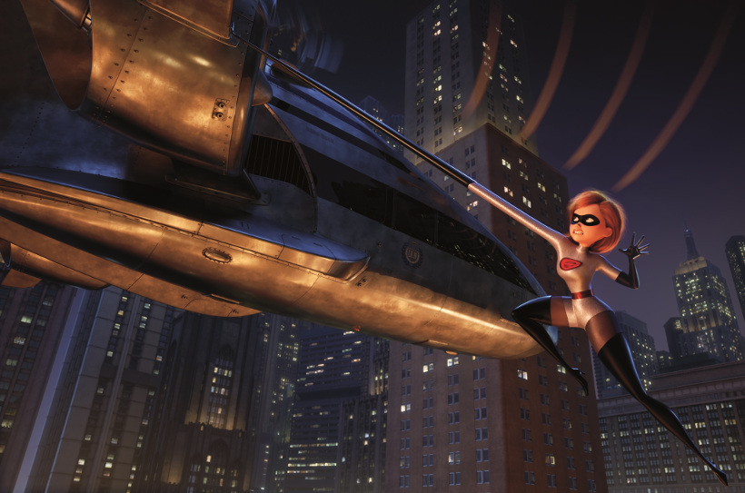 Szenenbild aus DIE UNGLAUBLICHEN 2 - INCREDIBLES 2 (2018) - Elastigirl (Holly Hunter) während ihrer Mission - ©2018 Disney•Pixar. All Rights Reserved.