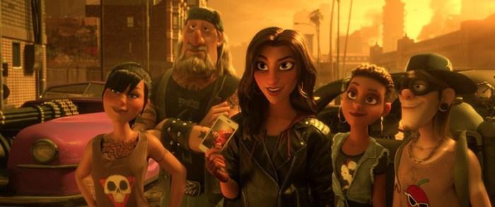 Szenenbild aus CHAOS IM NETZ - OT: RALPH BREAKS THE INTERNET - Shank (Gal Gadot) und ihre Freunde - © Disney