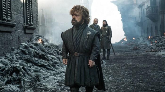 Szenenbild aus GAME OF THRONES  - 8. Staffel - Tyrion (Peter Dinklage) ist schockiert über die Taten von Daenerys. - © HBO