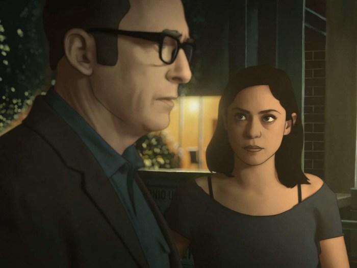 Szenenbild aus UNDONE (2019) - Jacob (Bob Odenkirk) und Alma (Rosa Salazar) - © Amazon Prime Video