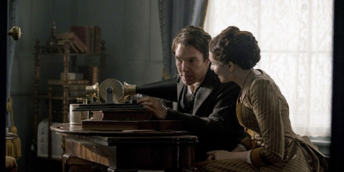 Szenenbild aus THE CURRENT WAR - Thomas Edison (Benedict Cumberbatch) und Ehefrau Mary (Tuppence Middleton) - © Leonine Studios