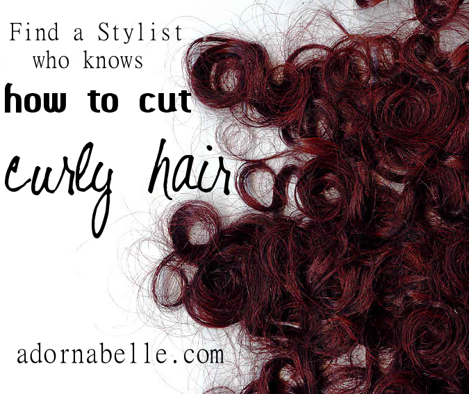 How To Cut Curly Hair Adornabelle