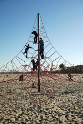 These play areas are scattered down the length of the beach.