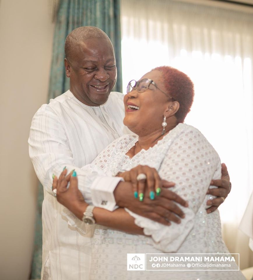 Mrs Lordina Mahama posts 'loved up' photo to celebrate her husband on Valentine's Day
