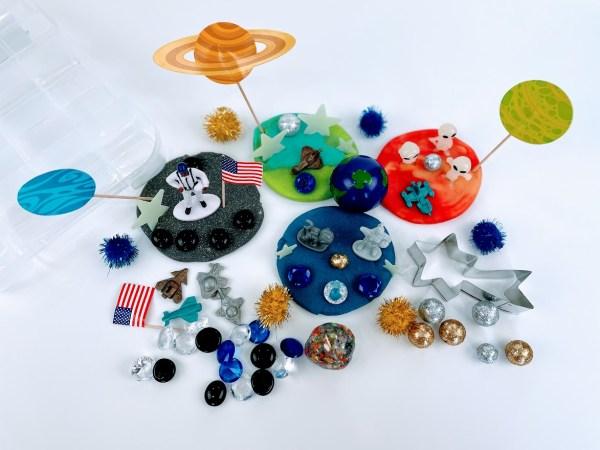 astronaut playdough kit