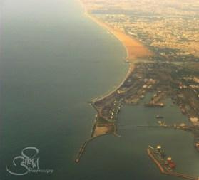 Arial View of Chennai Port