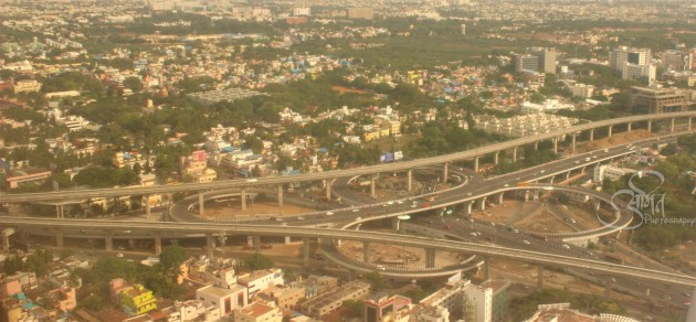 Arial View of butterfly interchange chennai