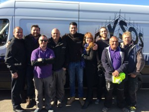 AD Plastering team working with DIY SOS from BBC one