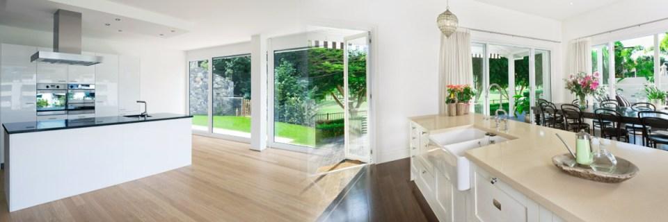 Kitchen - white walls, smooth plastered room