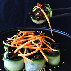 Wood Ear Salad with Sichuan dressing