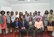 The participants with Mr Gamey at the end workshop